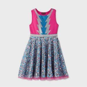 Girls jojo siwa lightning Bolt dress large